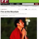 唯色 | 美国《外交政策》杂志刊登我的文章:Fire on the Mountain
