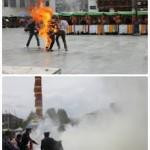唯色 | 拉萨自焚图片显示两名藏人在大昭寺与八廓街派出所之间自焚