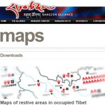 唯色 | 让赞联盟:图伯特抗议地区地图