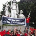 河内街头再现针对中国的抗议