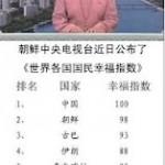 Male Gebi News | 联合早报网: 朝鲜版幸福指数 中国最快乐老美吊车尾