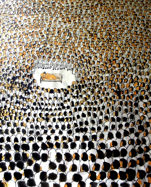 漫画标题:中国梦现场观摩大会;作者:秃头倔人