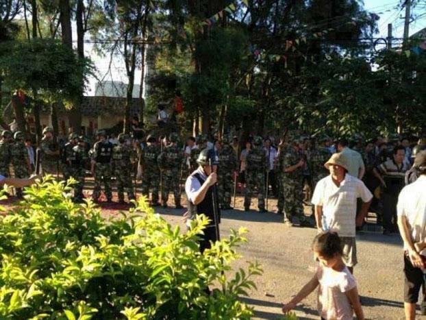 自由亚洲 | 广西北海市沙田镇上千村民抗议官商勾结