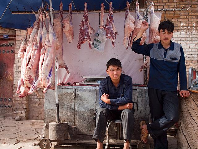 Butchers, Kashgar, Xinjiang