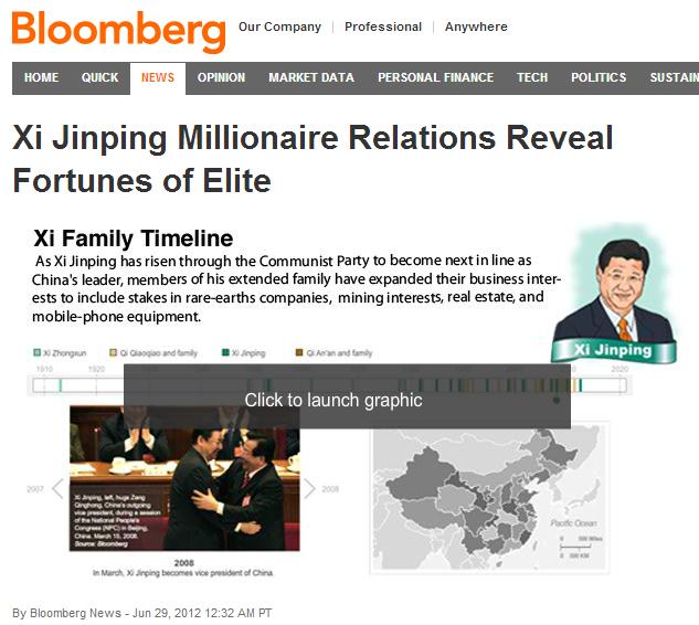 纽约时报 | 彭博社被指自我审查其中国报道
