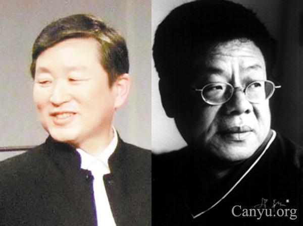 图片:历史学者章立凡(左);政治学者张鸣。(网络资料)