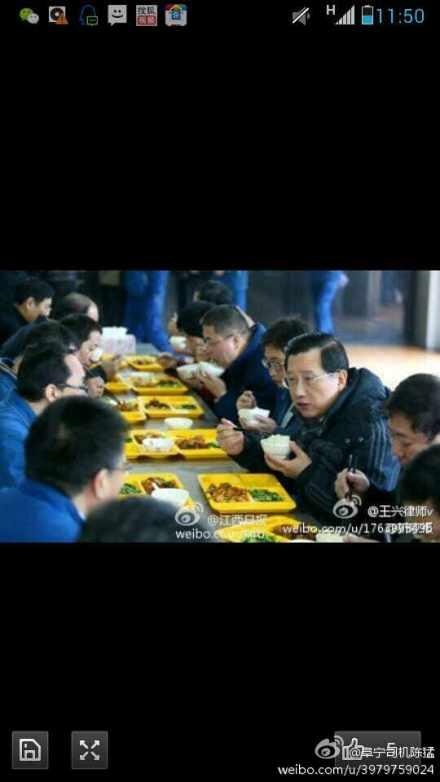 网曝江西书记与工人同吃食堂餐为作秀