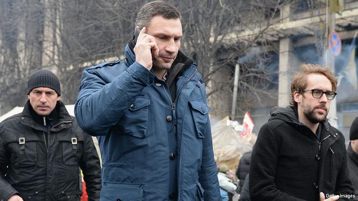 乌克兰反对派领导人克里琴科(Klitschko)