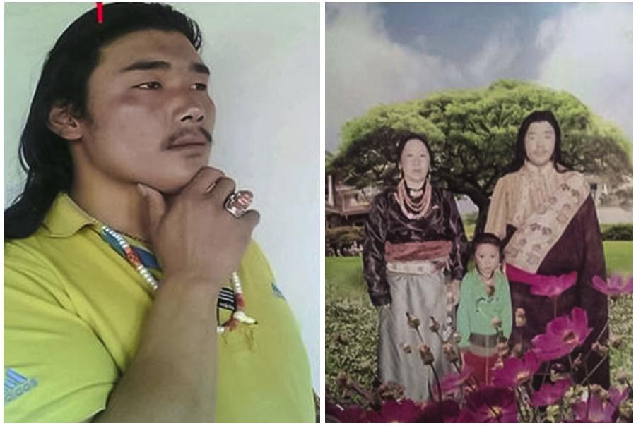 图片: 青海泽库县多禾茂乡自焚藏人帕莫桑珠和其家人。 (达兰萨拉藏人提供/记者丹珍)