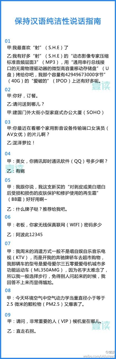 保持汉语纯洁性