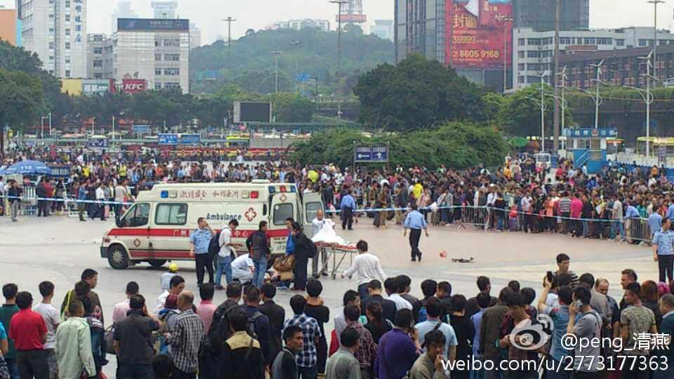 BBC | 广州火车站有男子持刀伤人警方开枪处置