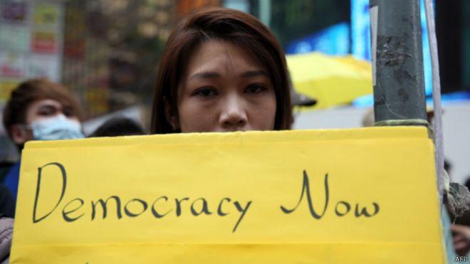 """BBC   中国官媒:""""占中""""溃败香港需斩除心魔"""