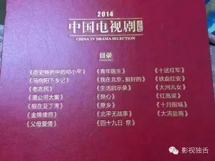 中国电视剧年度选集