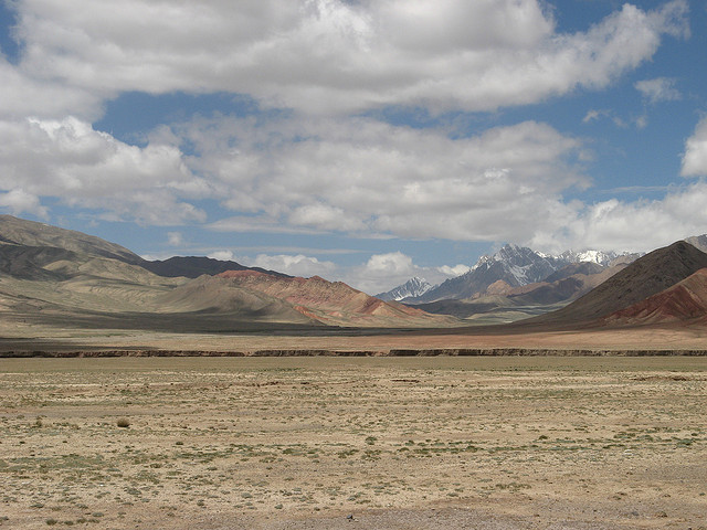 Crossing Torguart Pass into Kyrgyzstan
