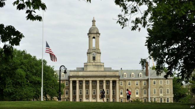 有报道指,宾夕法尼亚州立大学是为美国海军研发尖端技术的机构之一