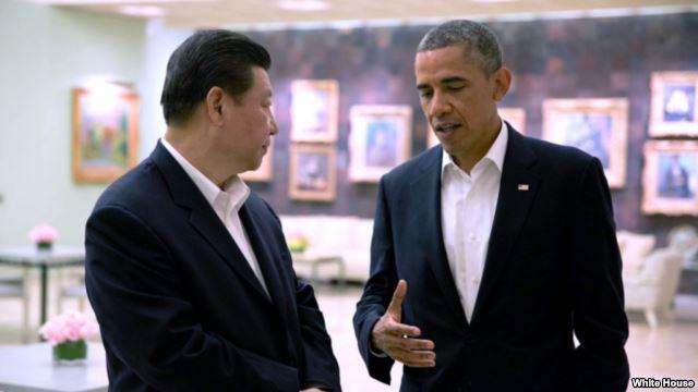 美国总统奥巴马与中国领导人习近平(资料照片)