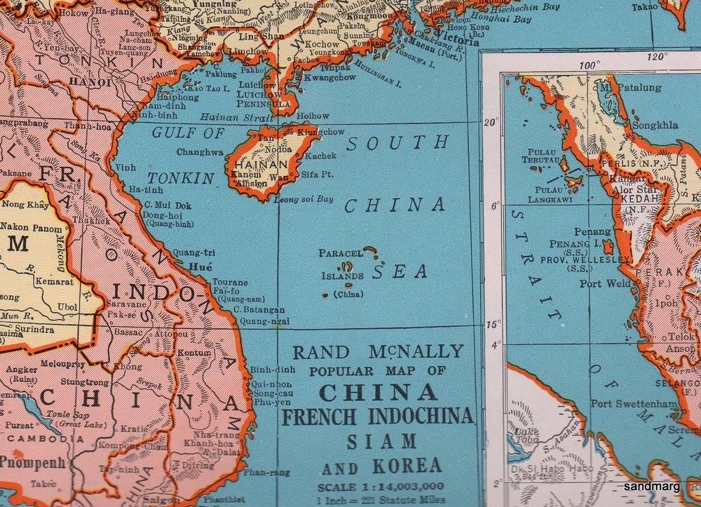 美版老地图中西沙群岛的中国是指哪个中国?
