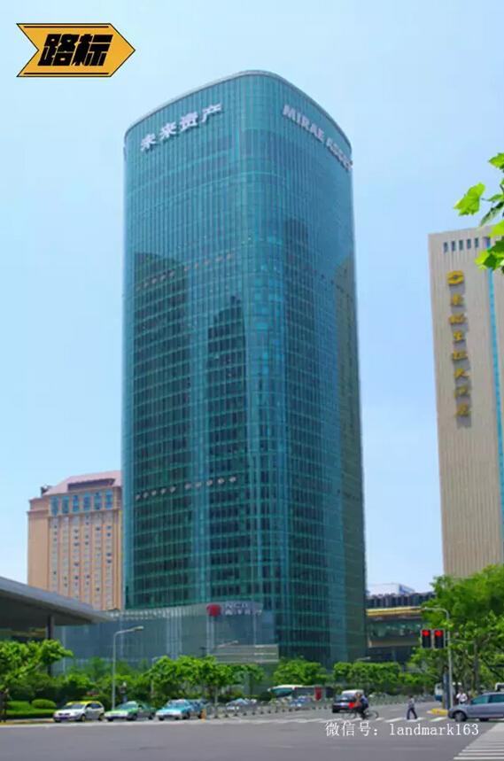 """车峰与合生创展建设的上海未来资产大厦,原名""""上海合生国际大厦""""。"""