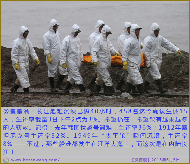 epa04781040 Rescuers carry a victim's body along the Yangtze River as they search for missing passengers of a capsized tourist ship in Jianli, Hubei province, China, 03 June 2015. There were 458 people on the ship, mostly aged tourists, when the ship turned upside down in the Yangtze River on 01 June night in Hubei province. At least 14 people were rescued so far, including three from inside the ship.  EPA/WU HONG