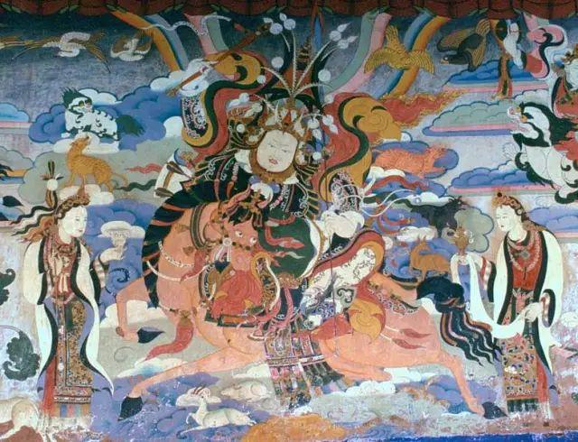 格萨尔王的壁画
