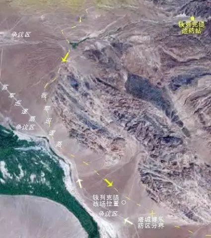 军迷反复研究后拟出的铁列克提战场位置图