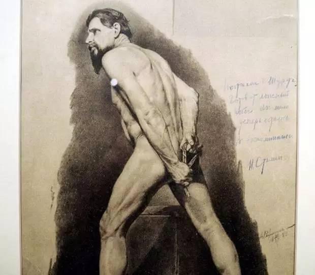 斯大林男性躶体画