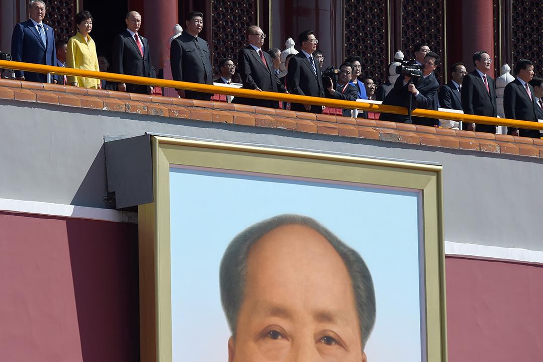 习近平联同多国领袖阅兵。摄:Wang Zhao - Pool /GETTY