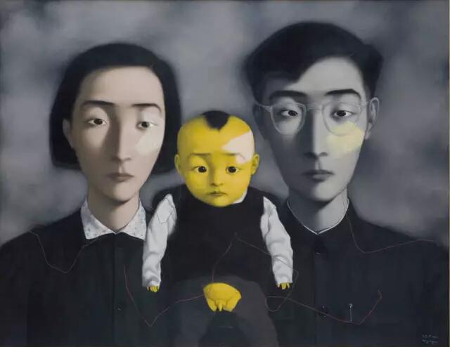 张晓刚作品《血缘:大家庭2号》