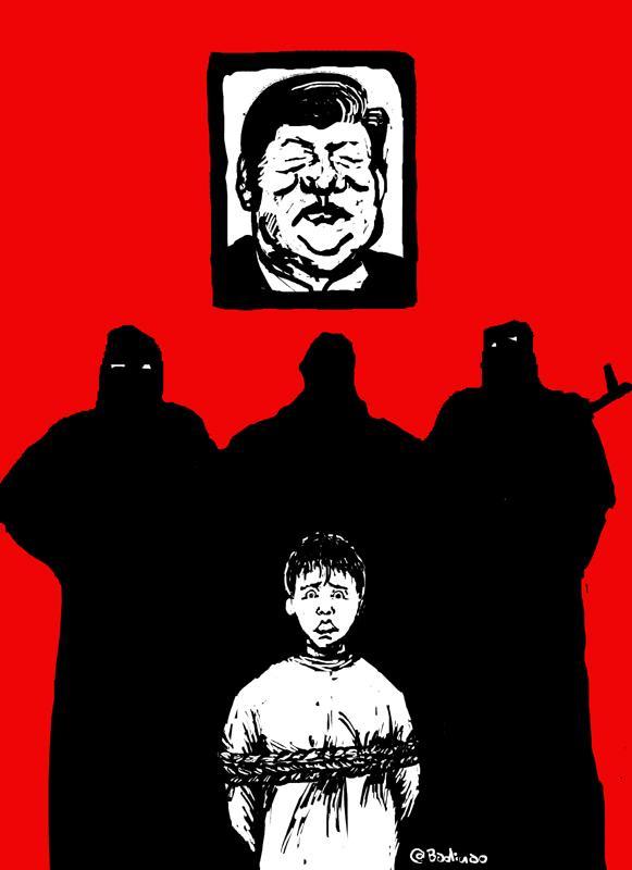 立场新闻 | 被逼取消的政治漫画展览「共歌」 巴丢草画了什么?