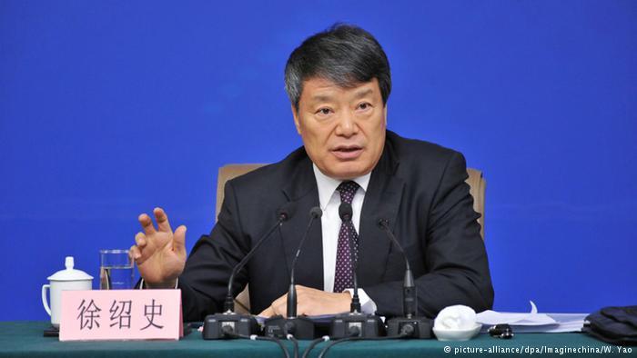徐绍史在3月6日的记者会上