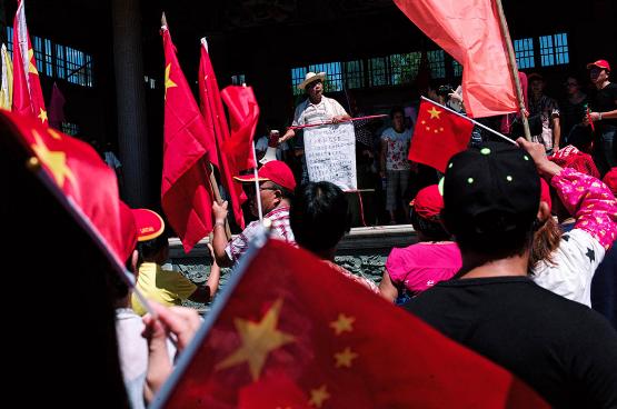 端传媒   现场:五年之后,乌坎村土地抗争红旗再起