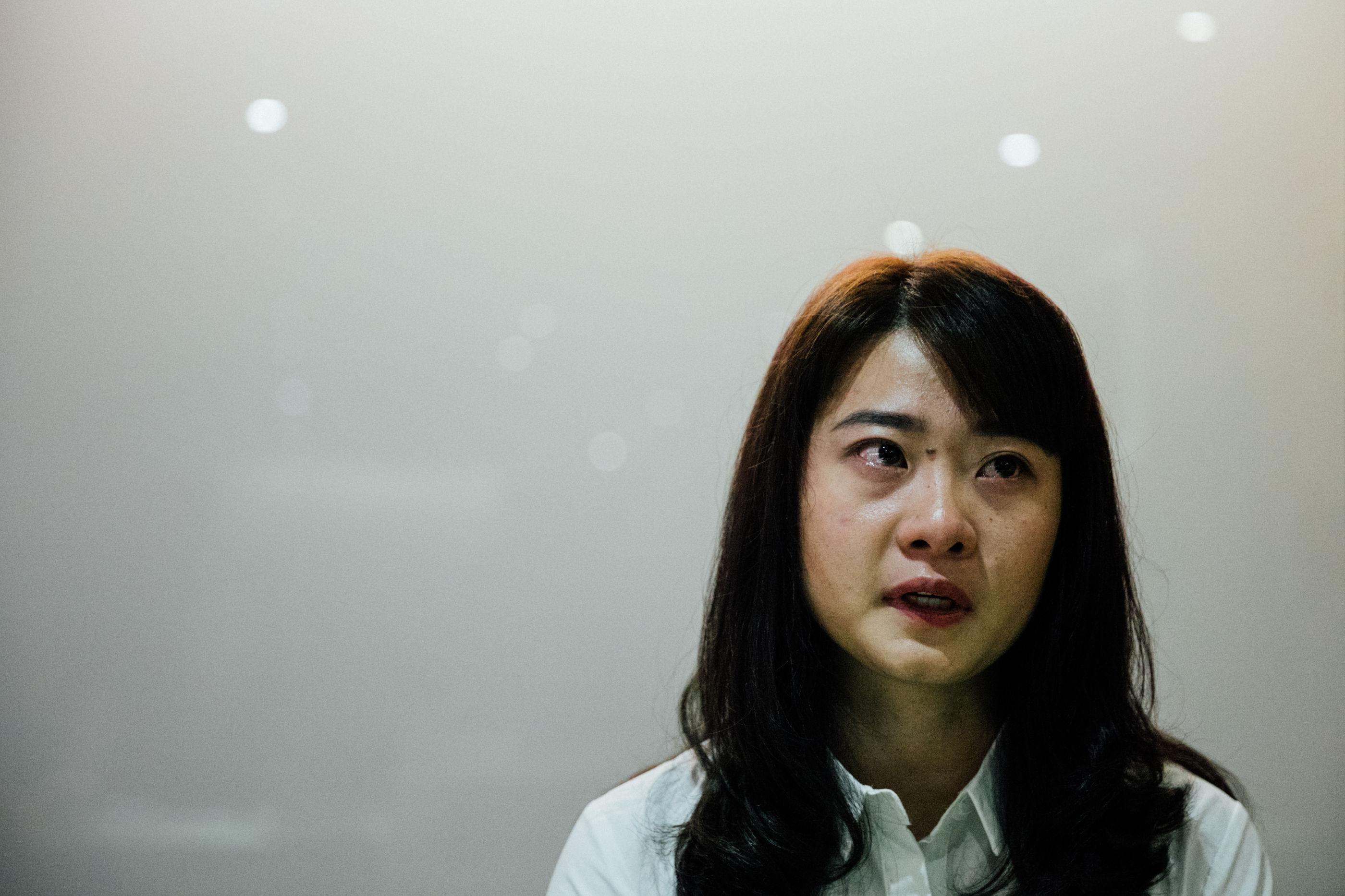 中國維權律師高智晟女兒耿格訪問。(攝影/余志偉)