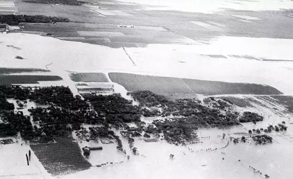 西平县被洪水淹没的村庄