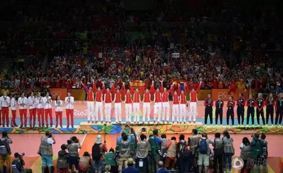 图:中国女排在2016年奥运会上重夺冠军