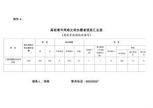 附件4:高校青年网络文明志愿者信息汇总表-2