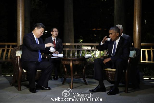 【河蟹档案】奥巴马显然不知道在中国被请喝茶是什么意思