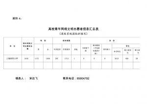 附件4:高校青年网络文明志愿者信息汇总表-1
