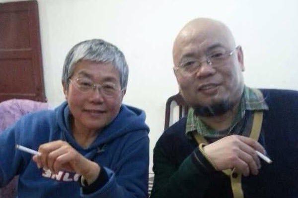 王荔蕻与吴淦;图片来源:王荔蕻推特