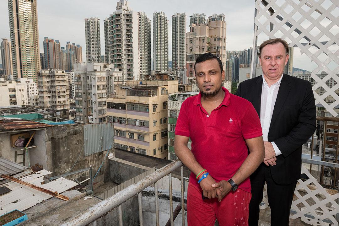 加拿大人权律师罗伯特·提勃(Robert Tibbo)曾安排斯诺登住在斯里兰卡难民Supun Thilina Kellapatha位于荔枝角的家中。摄:imaginechina