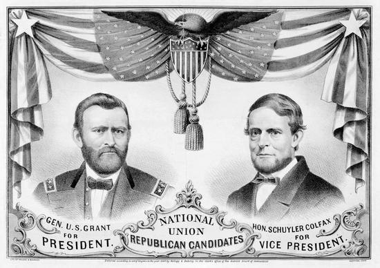 1868年美国大选,格兰特的竞选海报。
