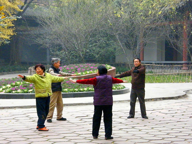 Photo: Exercise in a Chinese Park, by Stanley Zimny