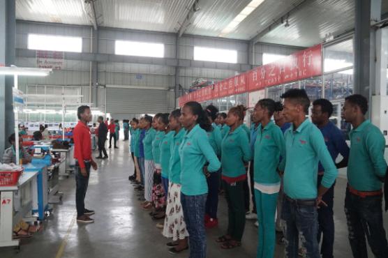 东莞华坚集团在埃塞俄比亚的工厂。摄:张子竹
