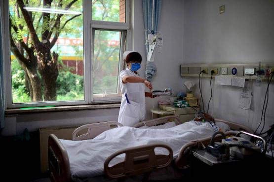 北京一家医院的临终关怀病房。图:京华时报/Imagine China