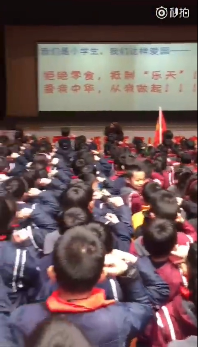 【CDTV】中国某小学组织学生集体宣誓抵制乐天