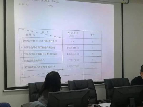 财新网|腾讯以0.01元竞标厦门政务云 或涉违规投标