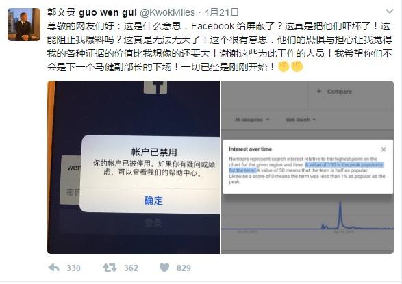 西藏之声 | 郭文贵直播遭中断 记者联盟抗议中国威胁外媒