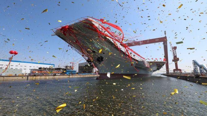 "BBC | 大陆网民发起给国产航母取名 ""皮皮虾号""目前得票最高"