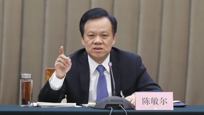 "BBC | 中共""新星""陈敏尔入主重庆 有望晋身政治局"