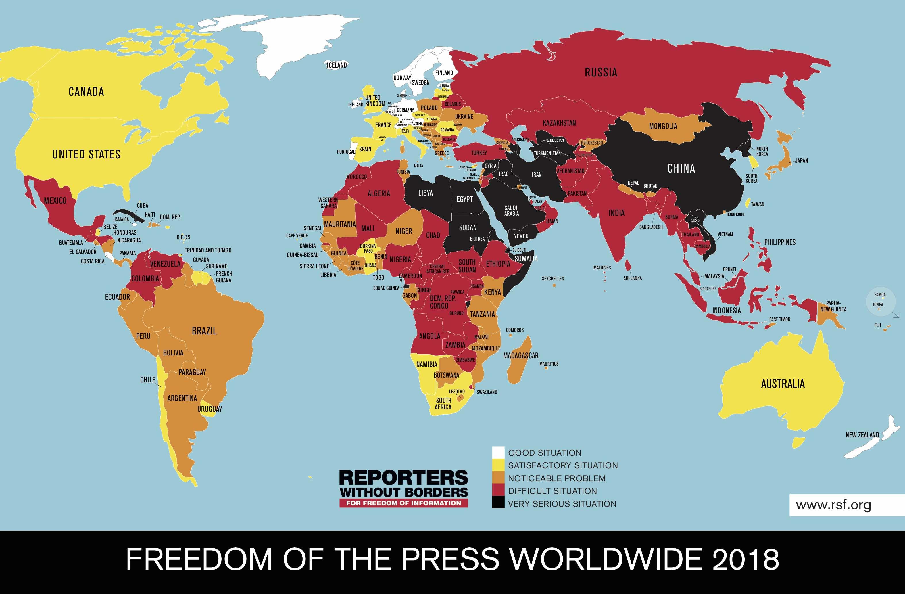 德国之声 | 新闻自由报告出炉 中国一再遭点名
