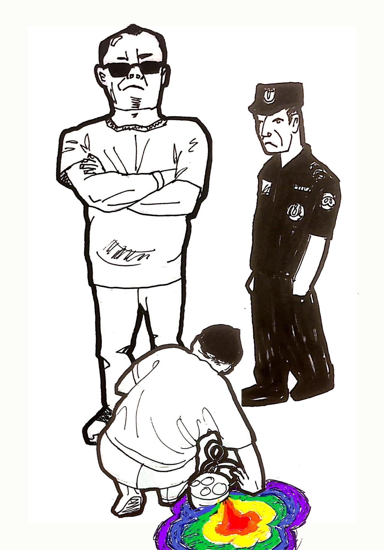 【图说天朝】北京798园区保安殴打女同